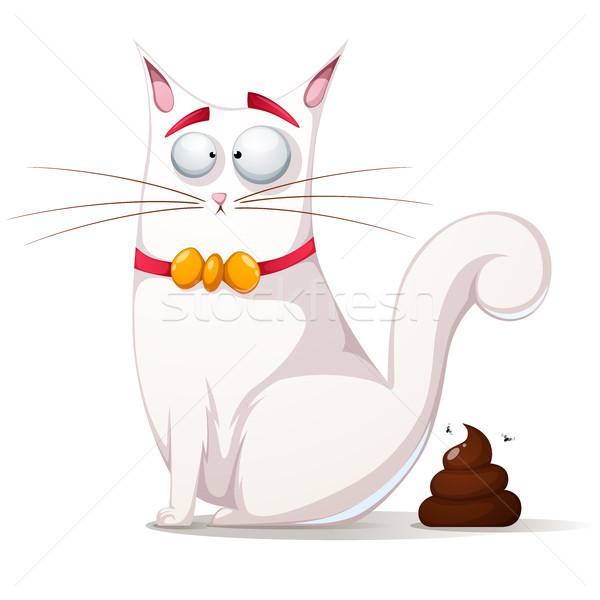 Grappig cute kat illustratie vector eps Stockfoto © rwgusev