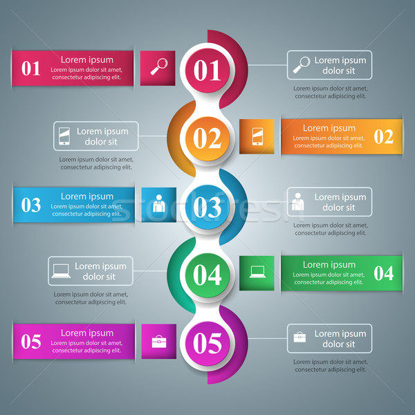 Stock fotó: Absztrakt · 3D · digitális · illusztráció · infografika · üzlet · infografika