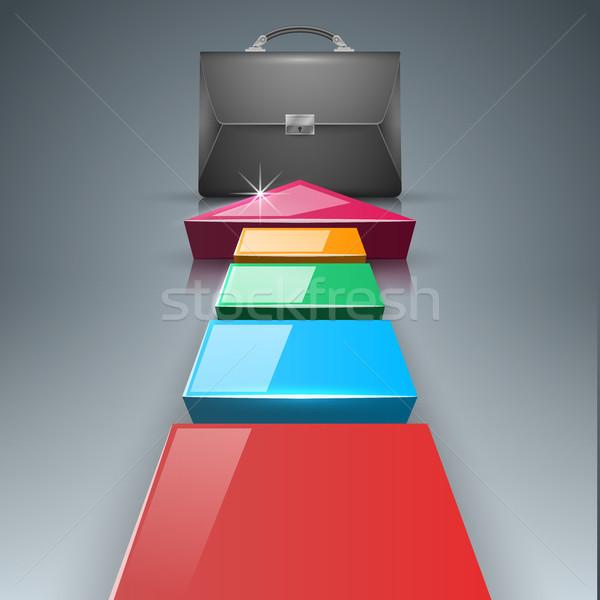 Aktatáska iroda üzlet infografika vektor eps Stock fotó © rwgusev