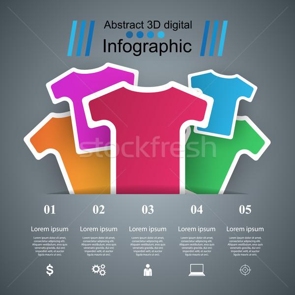 одежду бизнеса Инфографика спортивных красивой Сток-фото © rwgusev