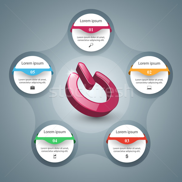 Kapcsoló ikon absztrakt üzlet infografika el Stock fotó © rwgusev