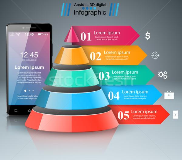 3D ícone modelo de design marketing Foto stock © rwgusev