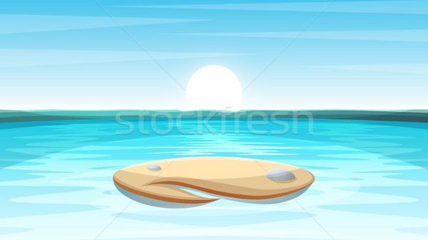 Cartoon island landscape illustration. Stock photo © rwgusev