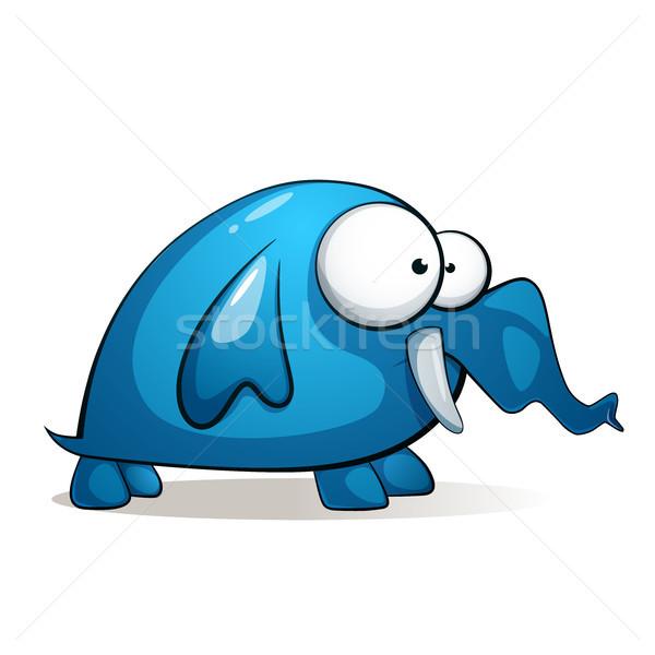 Imagine de stoc: Desen · animat · drăguţ · amuzant · elefant · vector · eps