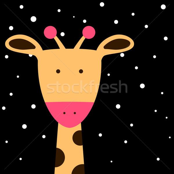 Sevimli zürafa örnek vektör eps 10 Stok fotoğraf © rwgusev