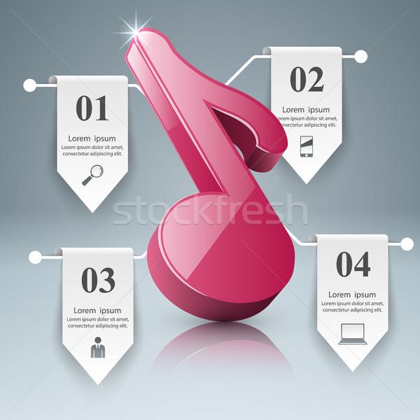 музыку образование сведению икона аннотация Сток-фото © rwgusev