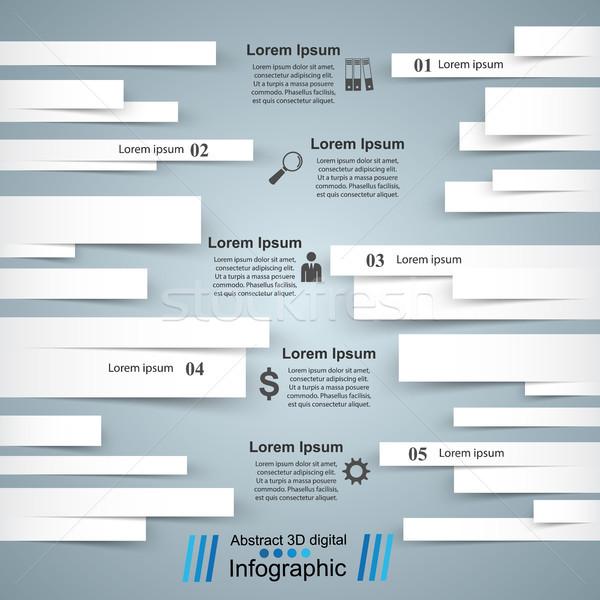 üzlet infografika origami stílus 3D infografika Stock fotó © rwgusev