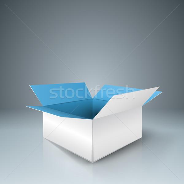 бумаги открытых окна тень серый бизнеса Сток-фото © rwgusev