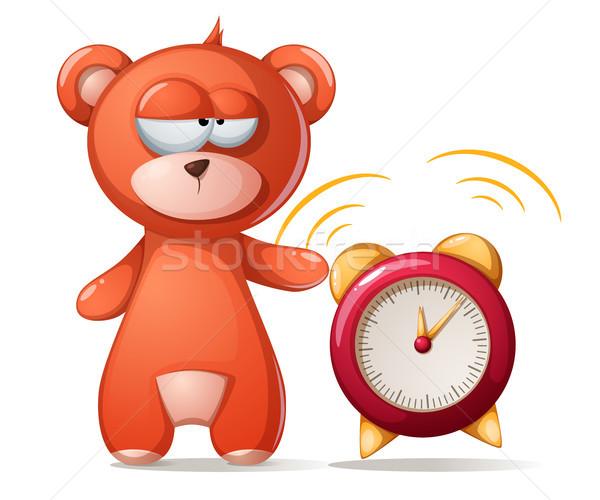 спальный несут иллюстрация смешные Cute будильник Сток-фото © rwgusev