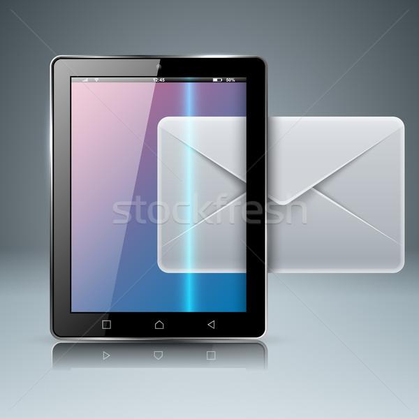 Digitális szerkentyű okostelefon tabletta posta email Stock fotó © rwgusev