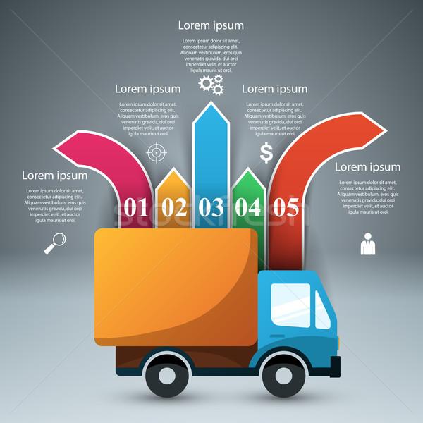 Сток-фото: автомобилей · дизайн · шаблона · маркетинга · иконки · вектора