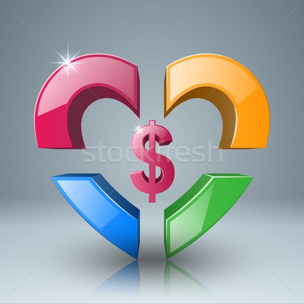 Business Infographics. Dollar, Money icon. Stock photo © rwgusev