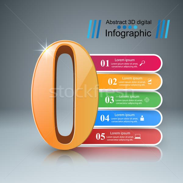 Nulla infografika szám ikon üzlet design sablon Stock fotó © rwgusev