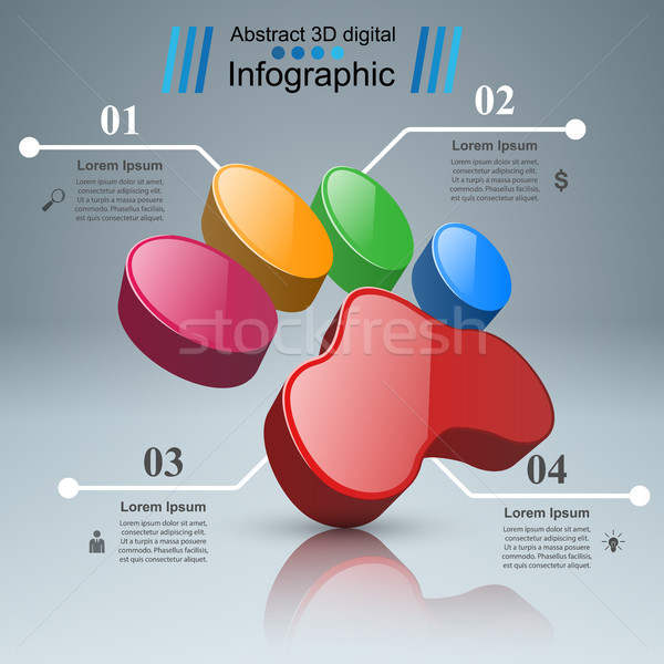 Animals infographic and business icon. Stock photo © rwgusev
