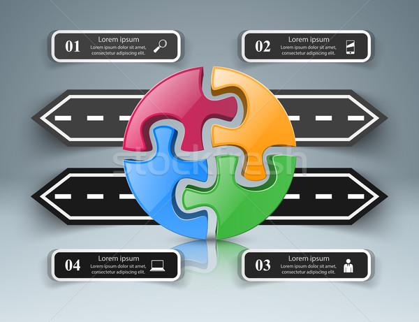 Estrada modelo de design marketing ícones abstrato Foto stock © rwgusev