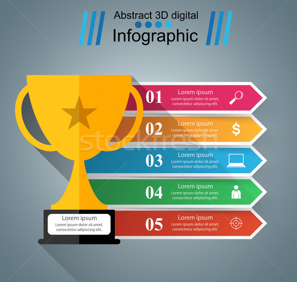 cup champion - business infographic Stock photo © rwgusev