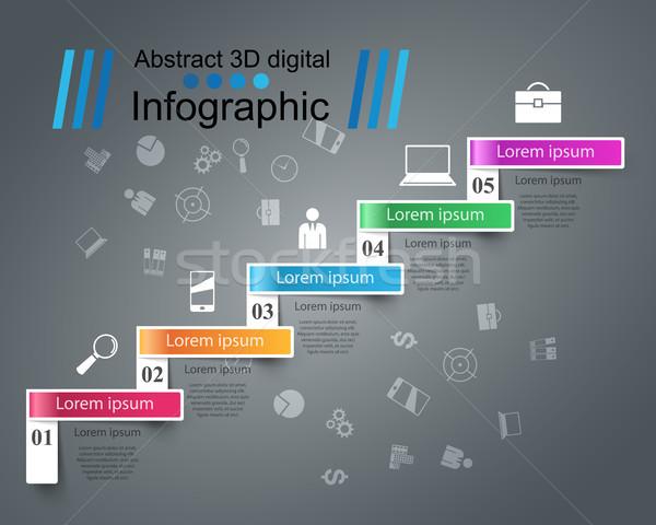 3D infographic.Euro, Money icon. Stock photo © rwgusev