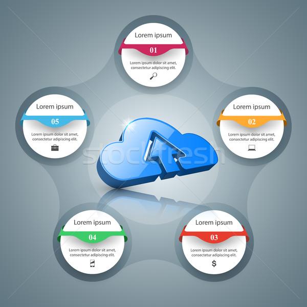 雲 アイコン ビジネス インフォグラフィック インフォグラフィック ストックフォト © rwgusev