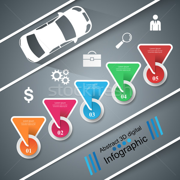 Сток-фото: дороги · дизайн · шаблона · маркетинга · иконки · автомобилей