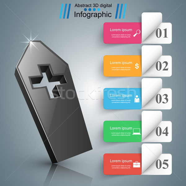 гроб икона бизнеса Инфографика логотип оригами Сток-фото © rwgusev