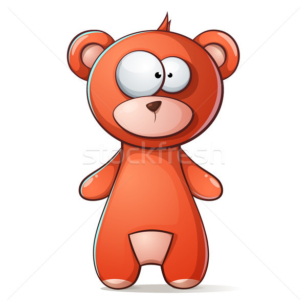 Cute, funny brown bear, grizzly teddy Stock photo © rwgusev