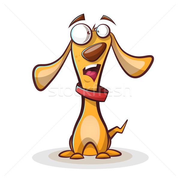 Komik sevimli köpek karikatür vektör eps Stok fotoğraf © rwgusev