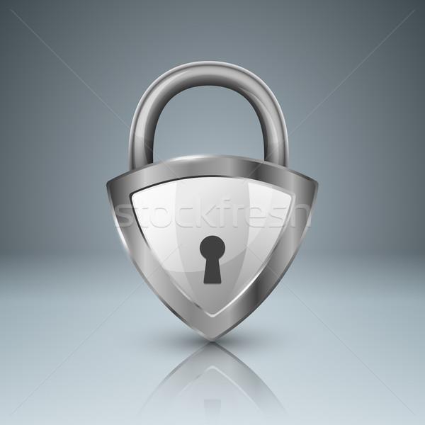 Key, lock icon. Business infographic.  Stock photo © rwgusev