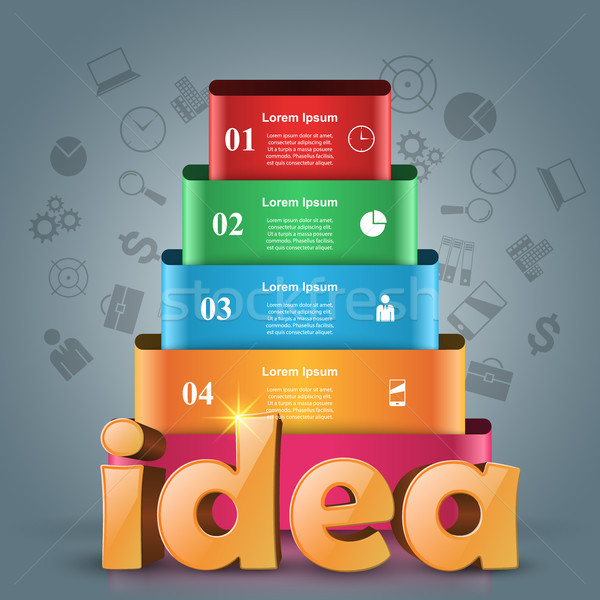 Idea 3d business infographics. Stock photo © rwgusev