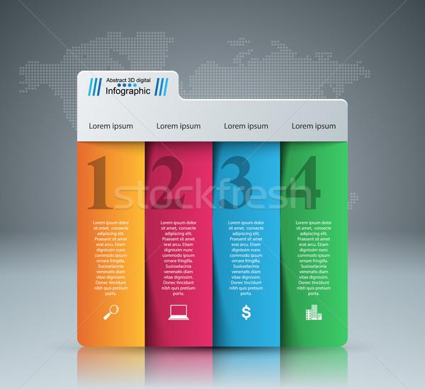 аннотация 3D Цифровая иллюстрация бизнеса Инфографика Сток-фото © rwgusev
