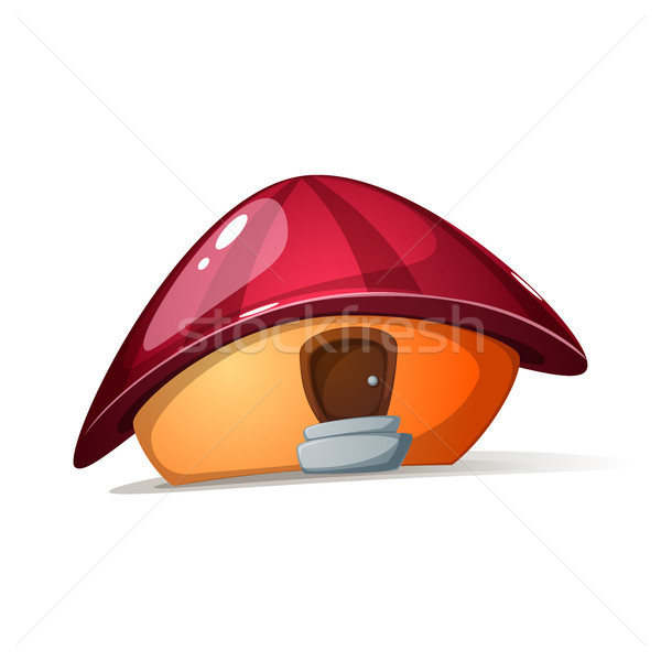 Cartoon mushroom house. Glare and shadow. Stock photo © rwgusev