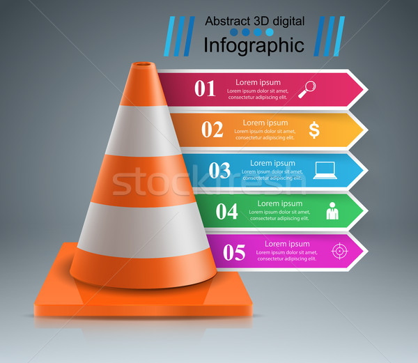 Road Road repair work. infographic design template and marketing Stock photo © rwgusev