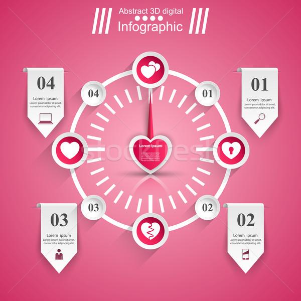 愛 インフォグラフィック 中心 アイコン 計 デザインテンプレート ストックフォト © rwgusev