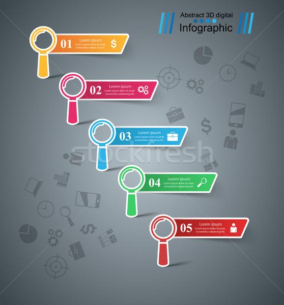 ビジネス インフォグラフィック アイコン 現実的な ストックフォト © rwgusev