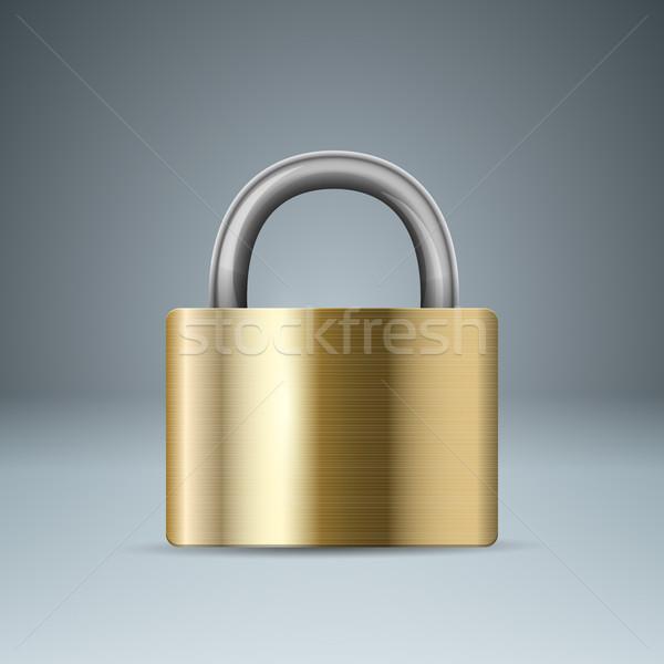 Lock icona business infografica vettore eps Foto d'archivio © rwgusev