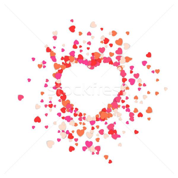 Grande coração rasgado peças vetor eps Foto stock © rwgusev