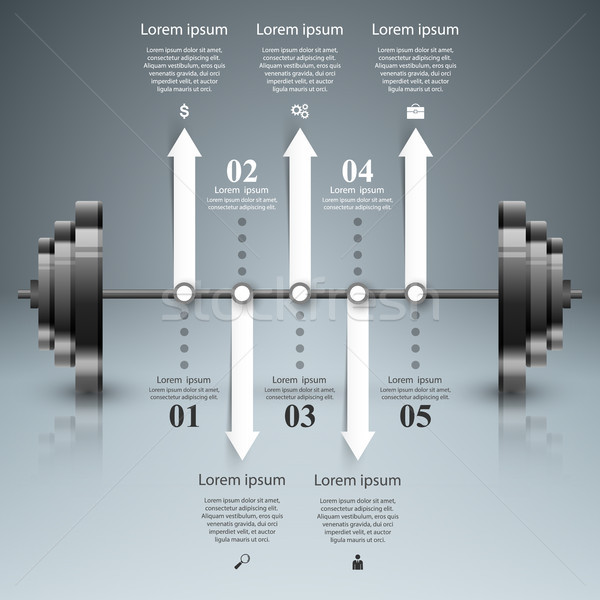 Business illustration are sports in our lives. Barbell icon. Stock photo © rwgusev
