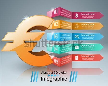 Business Infographics origami style Vector illustration. Box ico Stock photo © rwgusev