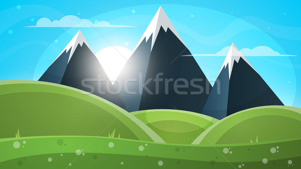 Montanha paisagem papel ilustração vetor eps Foto stock © rwgusev