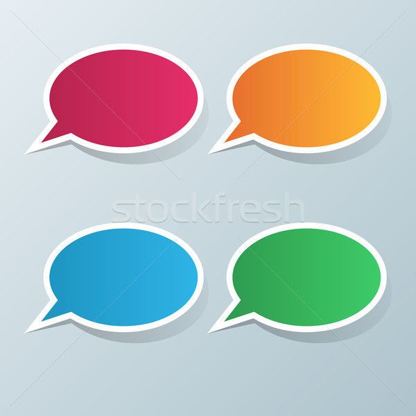 Toespraak icon dialoog vak info abstract Stockfoto © rwgusev