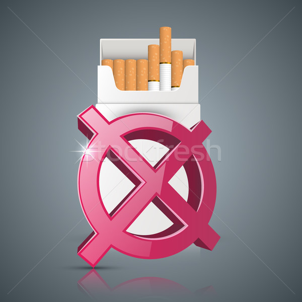 Harmful cigarette, viper, smoke, business infographics. Stock photo © rwgusev