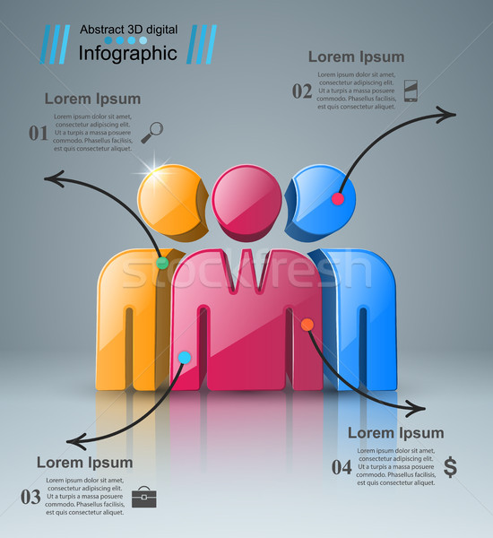 People icon. Business Infographics. Stock photo © rwgusev