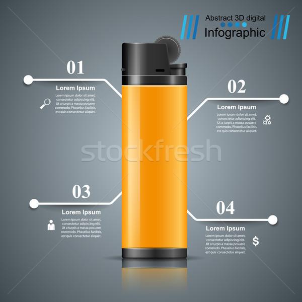 Realista isqueiro negócio marketing ícone Foto stock © rwgusev