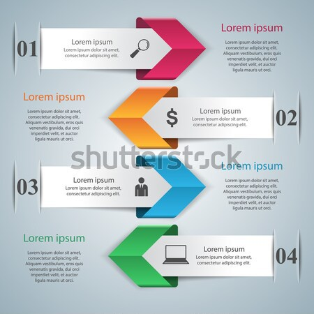 Business infographics origami stijl 3D Stockfoto © rwgusev