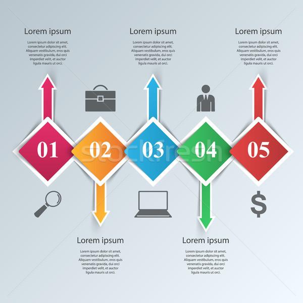 Foto stock: Resumen · papel · negocios · infografía · vector · eps