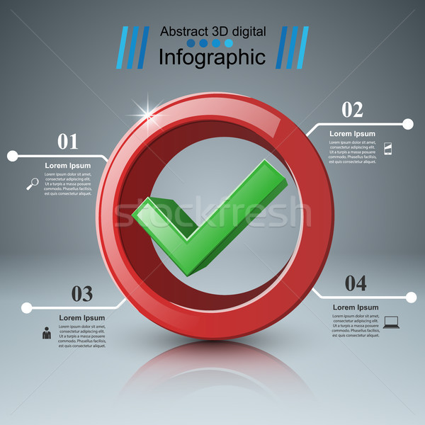 Ok igen ikon üzlet infografika vektor Stock fotó © rwgusev