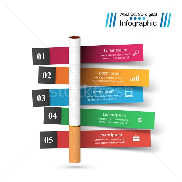 вредный сигарету дым бизнеса Инфографика иллюстрация Сток-фото © rwgusev