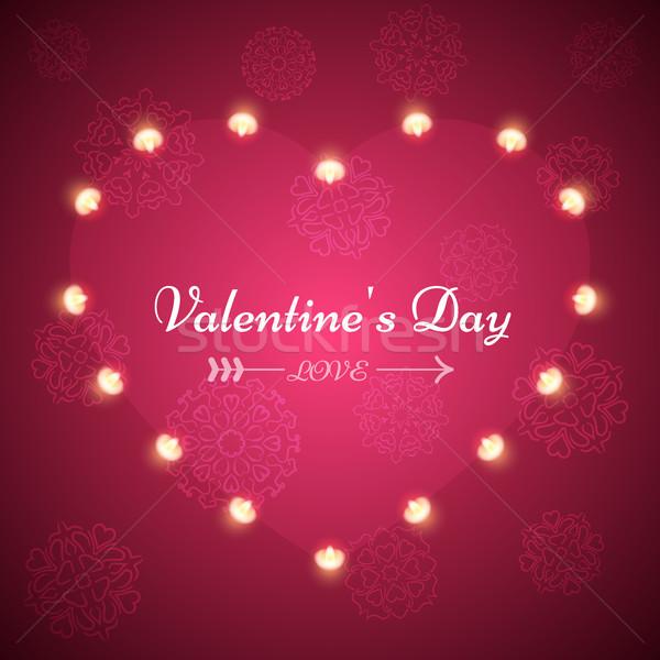 Valentine dia luz ilustração vetor eps Foto stock © rwgusev