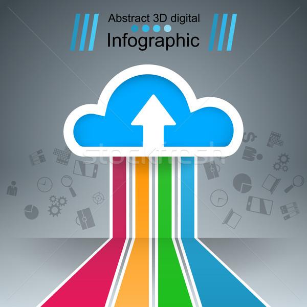 Nuvem ícone negócio infográficos Foto stock © rwgusev