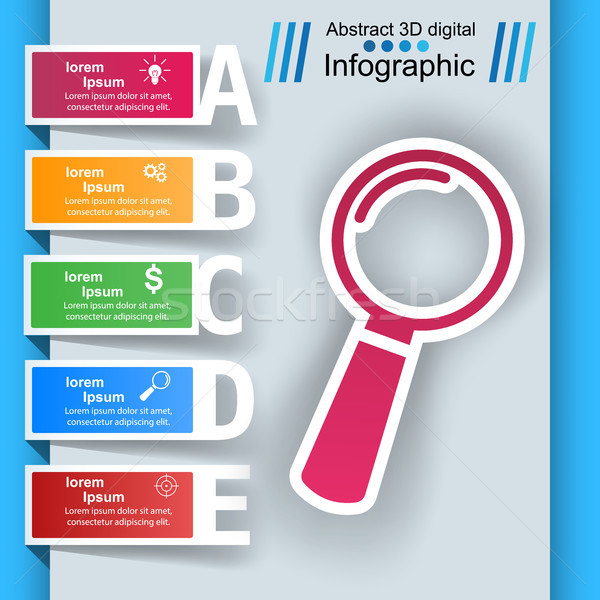 Loupe, search ibusiness nfographic Stock photo © rwgusev