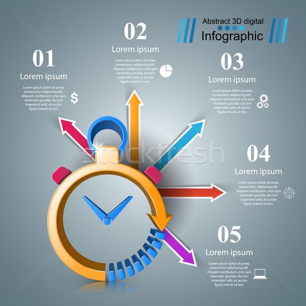 Relógio negócio ilustração vetor eps Foto stock © rwgusev